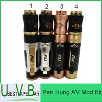 Wholesale Min Order Hang - Pen Hung AV Mod Kit 2016 October New Mech Mod 18650 Rogue Mechanical Mod 6 Pattern Min orders 1 units