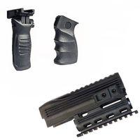 Wholesale Quad Rails - Tactical Stealth Black AK-47 AK74 Handguard Rifle Lightweight Polymer Quad Weaver-Picatinny Rail Mount Handguard Forend Rail System Set