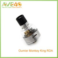 Wholesale Steel Connection - 100% Original Stainless Steel Oumier Monkey King RDA Rebuildable Dripping Atomizer 510 Threading Connection DHL Free Shipping