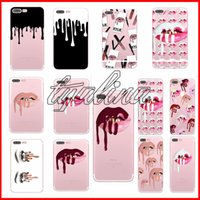 Wholesale Iphone Covers Nail Polish - kylie Cell Phone Cases For iPhone 8 6S 7Plus Nail Polish Sexy Lips Transparent Soft TPU Phone Cover Case for iphone X 18styles