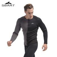 Wholesale Wetsuit Swimsuit - SBART 3MM Neoprene Long Sleeve Winter Swimming Wetsuit Men Shirt Rash Guard Diving Surfing Jersey Shirts Tops Swimsuit Tops