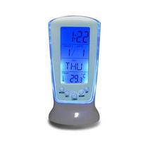 Wholesale Digital Snooze Alarm Clock Bedside - New Digital Luminous LED Multifunction Alarm Clock (Snooze calendar thermometer),Children Bedside Desk Clock Free Shipping