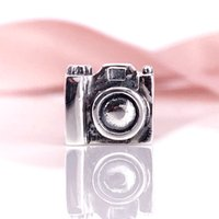 Wholesale camera chain jewelry online - Sterling Silver Camera Charms Beads Fit Snake Chain Bracelet And Necklace DIY Fashion Jewelry