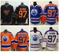Wholesale Silk Fashions Women - 2016 World Cup North America Ice Hockey Jerseys Black Edmonton Oiler 97 Connor McDavid Jersey Men Fashion Best All Stitched Quality