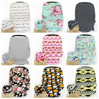 Wholesale Wholesale Crochet Car Hats - Baby Caps Stroller Cover Car Seat Canopy Shopping Cart Cover Hats Sleep Pushchair Case Pram Beanie Breastfeed Nursing High Chair Cover B2690