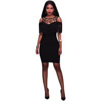 9ce021adf8 Wholesale plus size bodycon bandage mesh patchwork dress - Group Buy ...