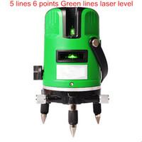 laser marking instrument großhandel-Großhandels-Markierungsinstrument 5 Linien 6 Punkte grünes Lichtlaser-Niveau 360 Grad Drehkreuz-Laser-Gussgewinde