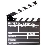 Softboxes & Umbrellas   Movie Clapper Clapboard Prop Chalk Board Film TV Directors Cut Action Slate Gift