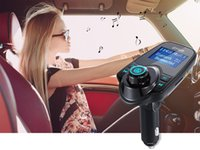 Wholesale Mix X5 - T11 Bluetooth Hands-free Car Kit With USB Port Charger And FM Transmitter Support TF Card MP3 Music Player Also BC06 BC09 T10 X5 G7 Car Kit