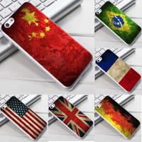 Wholesale Iphone Usa Flag Case - For iphone 6 6S Plus Retro USA UK National Flag Cases Soft TPU Gel Phone Case Cover Country Germany Brazil Argentina Mexico France
