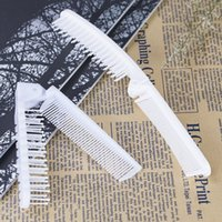 Wholesale Disposable Foldable - Plastic Disposable Comb PVC Foldable Pocket Combs Bathroom Wash Use Travel Hotel Supplies Hot Sale 0 48da B