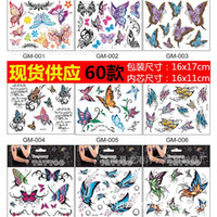 Christmas black and white butterfly tattoos - New style tattoo stickers D three dimensional color butterfly and black and white tattoo sexy durable waterproof tattoo