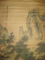malen zhang großhandel-Alte chinesische Malerei Rolle Landschaft durch Zhang Daqian Shan Shui