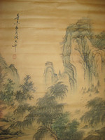 Wholesale painting zhang resale online - Old Chinese painting scroll Landscape By Zhang Daqian Shan Shui