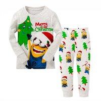Wholesale Minion Baby Pajamas - 6 sets Kids Despicable Me Pajamas Baby boy Minions Cartoon Sleepwear