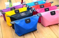 Wholesale Embroidered Candy Bags - New candy Cute Women's Lady Travel Makeup Bags Cosmetic Bag Pouch Clutch Handbag Casual Purses Dumpling type cosmetic gift purse