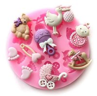 Wholesale Cake Baby Decorating Moulds - Mini New Style Baby & Little feet etc silicone handmade fondant cake decorating DIY mold free shipping