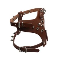 Wholesale Wholesale Spiked Dog Harness - Adjustable Chest 35~45CM Leather Pet Dog Harness With Spiked