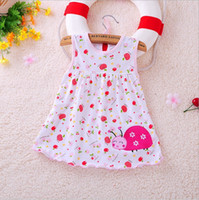 Wholesale Baby Animal Ribbon - Summer baby dresses flower girls dress cotton baby girls clothing with a variety of styles for 0 to 2 ages wholesale