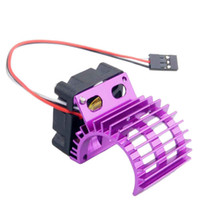 RC HSP Purple Alum 380 390 Motor Dissipatore DC 7.2V Brushless Fan per 1:16 Truck
