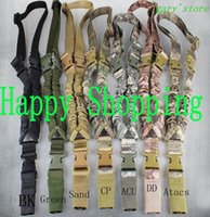 Wholesale Gun Slings - Tactical 1000D Sling One Single Point Sling Adjustable Bungee Rifle Gun Sling Strap System