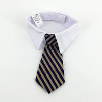collar del gato corbata de lazo al por mayor-2 tamaño perro grooming gato rayas pajarita cuello, mascota cuello de corbata ajustable perro corbata fiesta de bodas, perro suministros