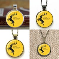 Wholesale Fury Game - 10pcs Ours Is The Fury Game of thrones Barratheon Sigil ASD 2 Glass Necklace keyring bookmark cufflink earring bracelet