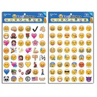 Wholesale Stickers Sheets For Kids - Emoji Sticker Pack-Instagram Facebook Twitter for iPhone Emoji sticker 4 sheets per pack around 200 Stickers kids lovely gift with OPP Bag