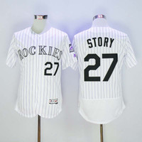 Wholesale Cheap Boys Athletic Shorts - Colorado Rockies #27 Trevor Story Jersey Men's Baseball Shirts Discount Cheap Baseball Uniforms Athletic Jerseys Stitched Name and Number