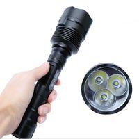 UK super bright led camping lantern - Super Bright 6000LM 3x XM-L T6 LED Flashlight 5 Mode Long Torch Flash Light Hunting Light Lantern For 18650 Battery