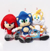 23cm Chain nouveau Sonic Peluche Red Sonic The Hedgehog Peluche douce Stuffed Doll Figure clé SEGA cadeau enfants