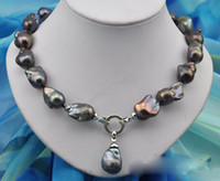 ingrosso migliori perle nere-Best Buy Pearl Jewelry Raro 18