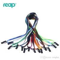 Wholesale Ic Holder - 10pcs set NO7635 ID Card Holder Multifunctional Lanyard Clip Polyester Rope for IC card H210491