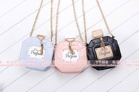 Wholesale Mini Handbag Perfumes - Wholesale-Hot Girls Baby Toddler Metal Chain Buckle Handbag Kids Shoulder Bag Children Crossbody Bag Purse women Perfume bottle mini bag