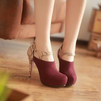 Wholesale Shoes Zipper Flower - Spring and Autumn Sexy Casual Snake Color Ultra Fine High-heeled Shoes with Zipper Club Ankle Shoes
