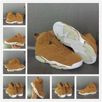 Wholesale Golden Rubbers - New arrival air retro 6 shoe Golden Harvest Wheat Man Basketball Shoes Top quality retro 6s mens sport Trainer Sneakers us 8-13