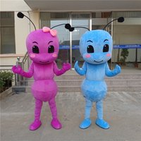 Wholesale Movie Cartoon Mascot - Two Color Ants New Christmas Mascot Costume Fancy Dress Adult Size animal Cartoon Dress Cute Ants Mascot Halloween Christmas Party Dress