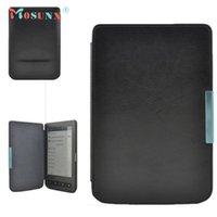 Wholesale E Reader Stand - Hot-sale MOSUNX Tablet New Stand Folio Flip Crazy Horse Leather Case Cover For Pocketbook 614 624 626 640 E-reader E-book Gifts