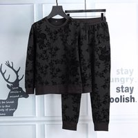 Wholesale Heavy Embroidery Suits - 2017 new autumn and winter suits, men and women beebest Embroidery embossed heavy embroidery plus hot drilling,men's fashion Black sportswea