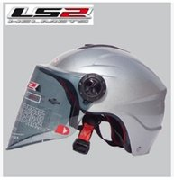 Wholesale Ls2 Helmets Uv - Wholesale-The new motorcycle helmet LS2 OF108 summer washable lining wear and UV lenses Silver S-XL