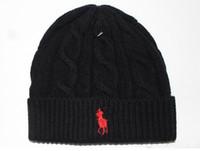 Wholesale Women Sport Beanies - Fashion men winter beanie men hat casual knitted sports cap ski gorro black grey blue red hight quality skull caps