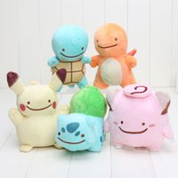 Wholesale 12 cm Pikachu Charmander Squirtle Bulbasaur Clefairy Ditto Metamon Plush Doll Stuffed Animal Toy
