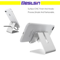 Wholesale Metal Desks - Universal Aluminum Metal Cell Phone Tablets PC Desk Stand Holder Support Bracket For iPhone 6 6S 5S SE For Galaxy Note 5
