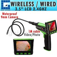 """Wholesale Endoscope Lcd 9mm - VID-12_1M 3.5"""" Wireless TFT LCD Inspection Video Camera Borescope  Endoscope Zoom Rotate 1Meter 1M Cable with 9mm Waterproof Camera Head"""
