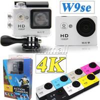 Wholesale Hdmi Lens - EKEN W9se 4K HD Action Camera SJ6000 wifi Style 2 inch LCD Screen 1080P HDMI 30M waterproof 140 degree Lens Helmet Sport DV