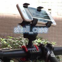 universal-fahrradhalterung großhandel-Einstellbare Fahrrad Telefonhalterung 360 Grad drehbare Fahrrad MTB Clip auf Ständer Halterung Halter für mobile GPS-Blitzlicht