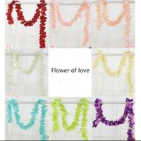 Wholesale Diy Rack - New Arrival Artificial Flowers Rattan DIY Flower Vine Rack Wedding Centerpiece Home Decoration 8 Color 1 Lot=10 PCS