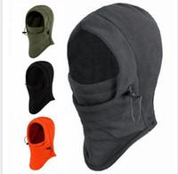 chapéu do velo bonés venda por atacado-Chapéu de Inverno Caps Máscaras espessamento Máscara Polar homens Windproof Ski Quente Cabeça Lenços Ciclismo Chapelaria Outdoor Camping Caminhadas Bonnet
