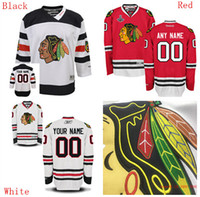 Wholesale Blackhawk Full - Customized Personalized chicago blackhawk Hockey Jersey High Quality & Stitched Hockey Jersey white red jersys