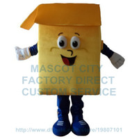 Wholesale Box Mascot Costumes - (Can Change Color) Anime Cosply Costume Golden Yellow Carton Box Mascot Costume Advertising Mascotte Fancy Dress Suit Kits 1954